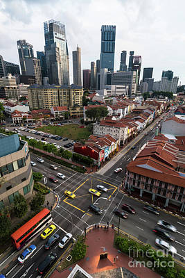 Photograph - Singapore Crossroads by Didier Marti