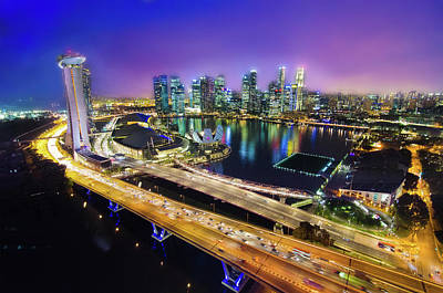 Photograph - Singapore Flyer by Guowen Wang