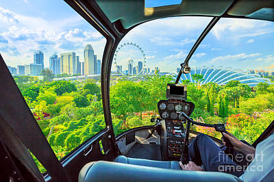 Photograph - Singapore Helicopter Garden by Benny Marty