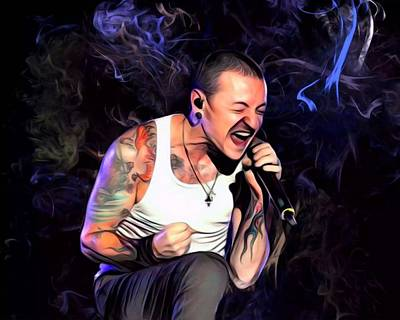 Stone Temple Pilots Wall Art - Digital Art - Singer Chester Bennington by Scott Wallace Digital Designs