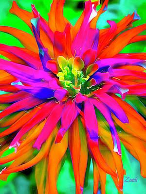 Color Digital Art - Singing Bloom by Cindy Greenstein