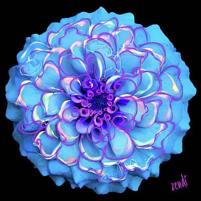Blue Digital Art - Singing The Blues by Cindy Greenstein