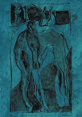 Painting - Single Horse 2 by Artist Dot