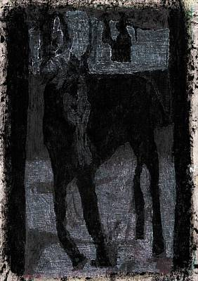 Painting - Single Horse 5 by Artist Dot
