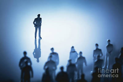 Photograph - Single Man Standing In Front Of Group Of People. by Michal Bednarek