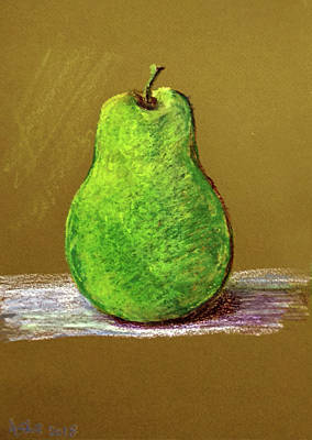 Drawing - Single Pear by Asha Sudhaker Shenoy