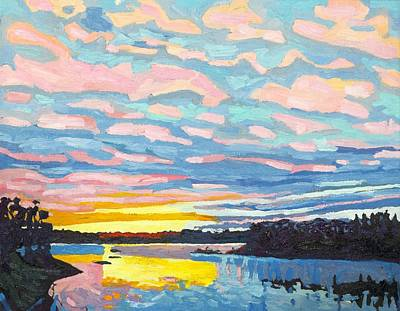 Painting - Singleton November Sunset Altocumulus by Phil Chadwick