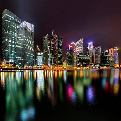 Financial District Photograph - Singopore Central Business District by Nazarudin Wijee