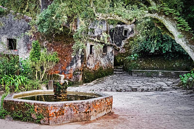 Photograph - Sintra Convent Courtyard - Portugal by Stuart Litoff