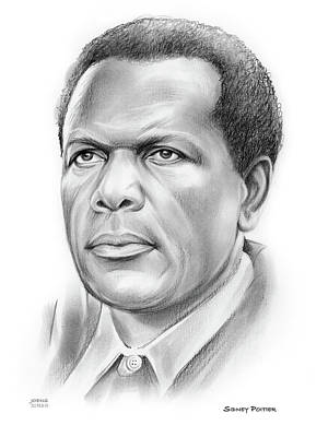 Drawings Royalty Free Images - Sir Sidney Poitier Royalty-Free Image by Greg Joens