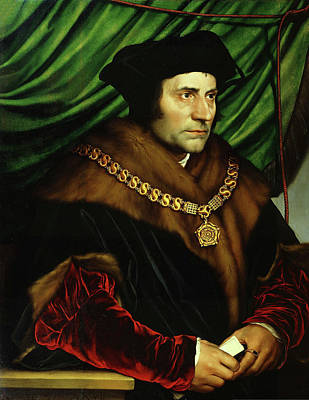 Painting - Sir Thomas More The Saint  by Hans Holbein