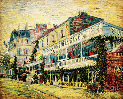 Painting - Sirene Restaurant At Asnieres by Vincent Van Gogh