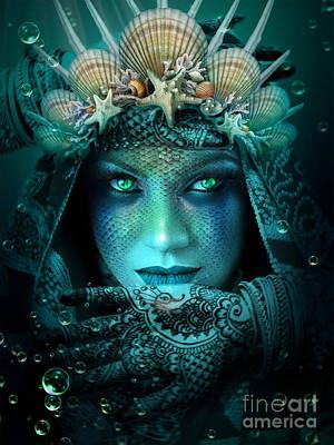 Digital Art - Sister Green Eyes by Kathy Kelly