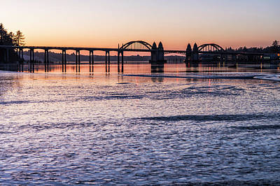 Photograph - Siuslaw River Bridge At Dusk by Belinda Greb