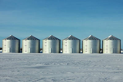 Photograph - Six Bins In A Row by Todd Klassy