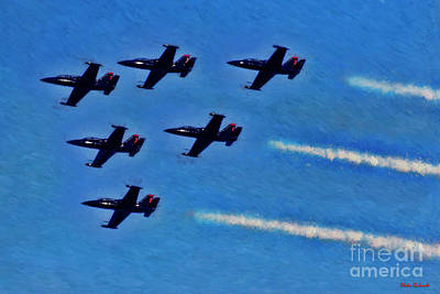 Photograph - Six Of The  Patriots Jet Team by Blake Richards