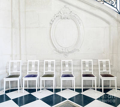 Photograph - Six Rodin Chairs by Craig J Satterlee