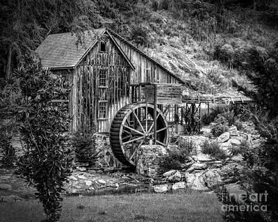 Photograph - Sixes Mill - Monochrome by Nick Zelinsky
