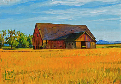Painting - Skagit Valley Barn #9 by Stacey Neumiller