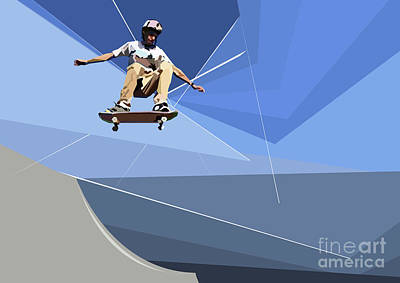 Digital Art - Skateboarder by Wendy Thompson