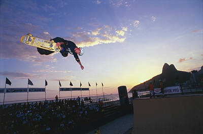 Photograph - Skater Competing In Contest At Ipanema by Lonely Planet