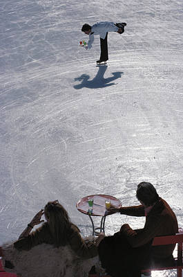 Photograph - Skating Waiter by Slim Aarons