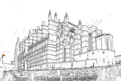 Caravaggio - La Seu, the Cathedral of Palma de Mallorca by Ulysse Pixel