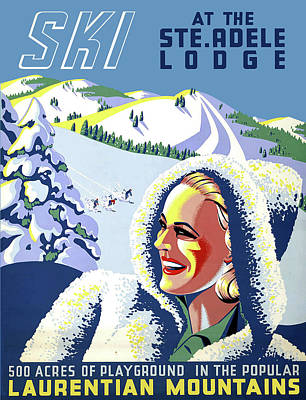 Adele Wall Art - Digital Art - Ski At The Adele Lodge by Long Shot