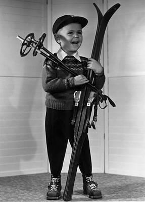 Ski Photograph - Ski Boy by Ralph Hopewell Anderson