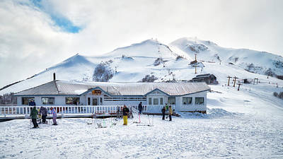Photograph - Ski Center On Top Of The Bayo Hill In The Argentine Patagonia by Fine Art Photography Prints By Eduardo Accorinti