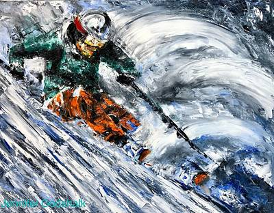 Painting - Ski Contemporary Fine Art by Jennifer Morrison Godshalk