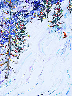 Painting - Ski Poster Matterhorn by Pete Caswell