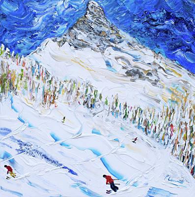 Painting - Ski Print Matterhorn Zermatt by Pete Caswell