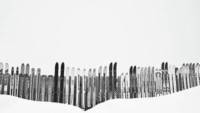 Ski Season Art Print by Dana Klein