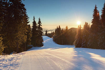 Photograph - Ski Slope Without Skiers by Evgeni Dinev