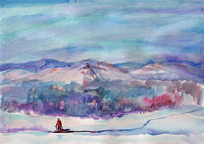 Painting - Ski Walk by Irina Dobrotsvet