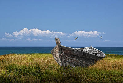 Photograph - Skiffs Final Resting Place by Randall Nyhof