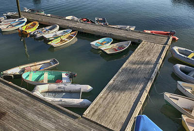 Photograph - Skiffs In Rockland Harbor by Pamela Hodgdon