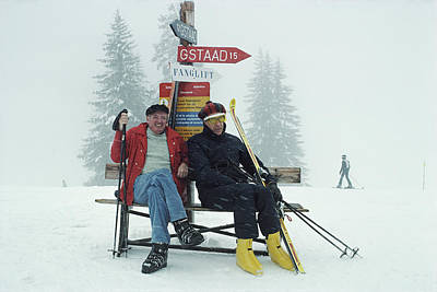 Ski Resort Photograph - Skiing Holiday by Slim Aarons