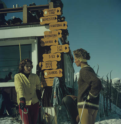 Vermont Photograph - Skiing In Stowe by Slim Aarons