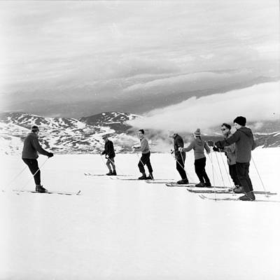 Photograph - Skiing Lesson by John Drysdale
