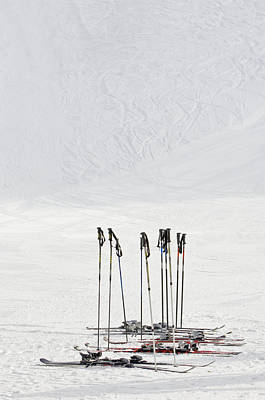 Ski Resort Photograph - Skis And Ski Poles In Soelden, Tyrol by Felbert+eickenberg