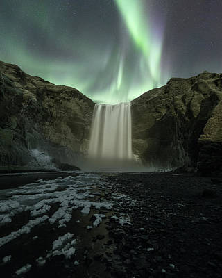 Photograph - Skogafoss Aurora by Photography by KO