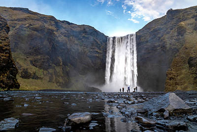 Photograph - Skogafoss Reflection by Framing Places