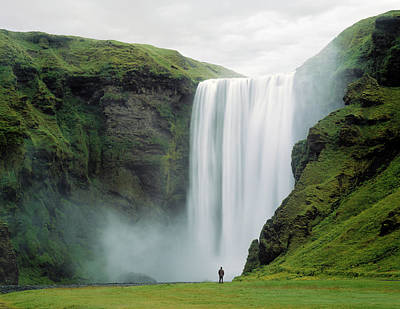 Photograph - Skogafoss Waterfall, Iceland by Ed Freeman