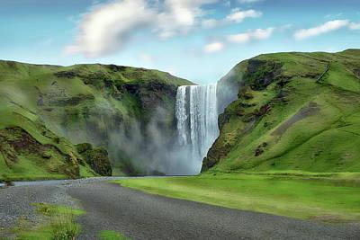 Photograph - Skogafoss Waterfall Scenic by Anthony Dezenzio