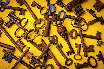 Photograph - Skull Skeleton Key by Garry Gay