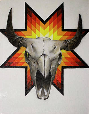 Painting - Skull With Star by Danny Frost