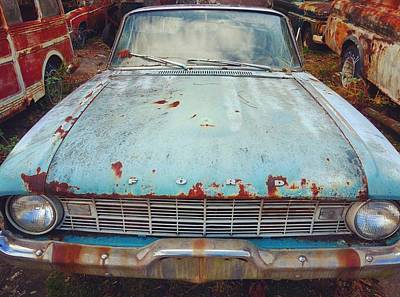 Photograph - Sky Blue Ford by James Calemine