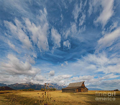 Photograph - Sky Over T.a. Moulton Barn by Doug Sturgess